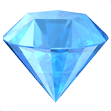 Diamond Emoji / Gem Stone Emoji, Apple style