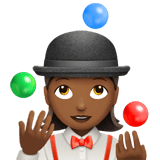 Woman Juggling Emoji with a Medium-Dark Skin Tone, Apple style