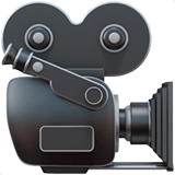 Movie Camera Emoji, Apple style