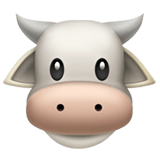 Cow Face Emoji, Apple style