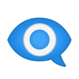 Eye in Speech Bubble Emoji, Google style