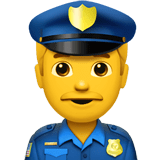 Police Officer Emoji, Apple style