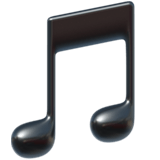 Musical Note Emoji, Apple style