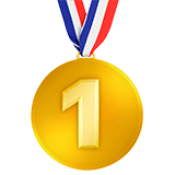1st Place Medal Emoji, Apple style