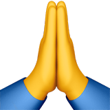 Praying Hands Emoji / Person With Folded Hands Emoji, Apple style