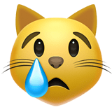 Crying Cat Face Emoji, Apple style