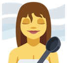 Woman in Steamy Room Emoji, Facebook style