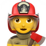Woman Firefighter Emoji, Apple style