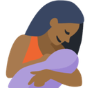Breast-Feeding Emoji with Medium-Dark Skin Tone, Facebook style