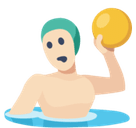 Person Playing Water Polo Emoji with Light Skin Tone, Facebook style