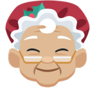 Mrs. Claus Emoji with Medium-Light Skin Tone, Facebook style
