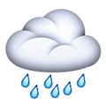 Cloud with Rain Emoji, Apple style