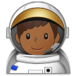 Man Astronaut Emoji with a Medium-Dark Skin Tone, Samsung style