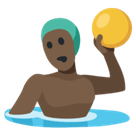 Person Playing Water Polo Emoji with Dark Skin Tone, Facebook style