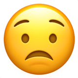 Worried Emoji / Worried Face Emoji, Apple style
