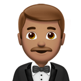 Man in Tuxedo Emoji with Medium Skin Tone, Apple style