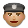 Police Officer Emoji with a Medium Skin Tone, LG style