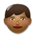 Man Emoji with a Medium-Dark Skin Tone, LG style