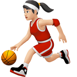 Woman Bouncing Ball Emoji with a Light Skin Tone, Apple style