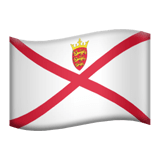 Flag of Jersey Emoji, Apple style