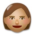 Woman Emoji with a Medium Skin Tone, LG style