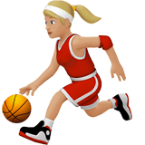 Woman Bouncing Ball Emoji with a Medium-Light Skin Tone, Apple style