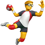 Man Playing Handball Emoji, Apple style