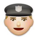 Police Officer Emoji with Medium-Light Skin Tone, LG style