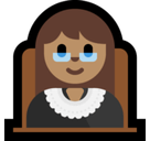 Woman Judge Emoji with Medium Skin Tone, Microsoft style