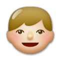 Boy Emoji with a Medium-Light Skin Tone, LG style