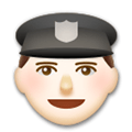 Police Officer Emoji with Light Skin Tone, LG style