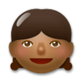 Girl Emoji with a Medium-Dark Skin Tone, LG style