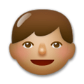 Boy Emoji with Medium Skin Tone, LG style