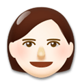 Woman Emoji with a Light Skin Tone, LG style