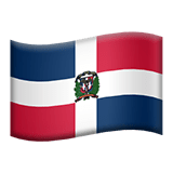 Dominican Flag Emoji / Flag of Dominican Republic Emoji, Apple style
