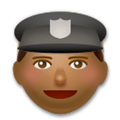 Police Officer Emoji with a Medium-Dark Skin Tone, LG style
