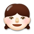Girl Emoji with a Light Skin Tone, LG style