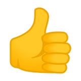 Thumbs Up Sign / Thumbs Up Emoji, Google style