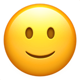 Slightly Smiling Face Emoji, Apple style