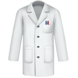 Lab Coat Emoji, Apple style