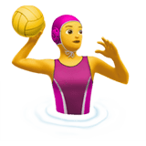 Woman Playing Water Polo Emoji, Apple style