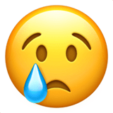Tear Emoji / Crying Face Emoji, Apple style