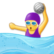 Woman Playing Water Polo Emoji, Samsung style