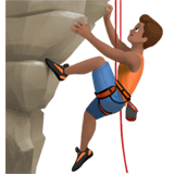 Man Climbing Emoji with Medium Skin Tone, Apple style