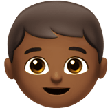 Boy Emoji with a Medium-Dark Skin Tone, Apple style