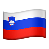 Flag of Slovenia Emoji, Apple style