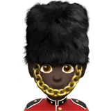 Man Guard Emoji with Dark Skin Tone, Apple style
