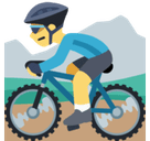 Person Mountain Biking Emoji, Facebook style