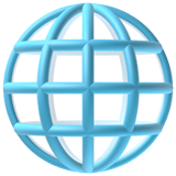 Globe with Meridians Emoji, Apple style