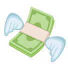 Money with Wings Emoji, Facebook style